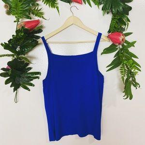 Jones New York blue sweater tank blouse ✨size 2x